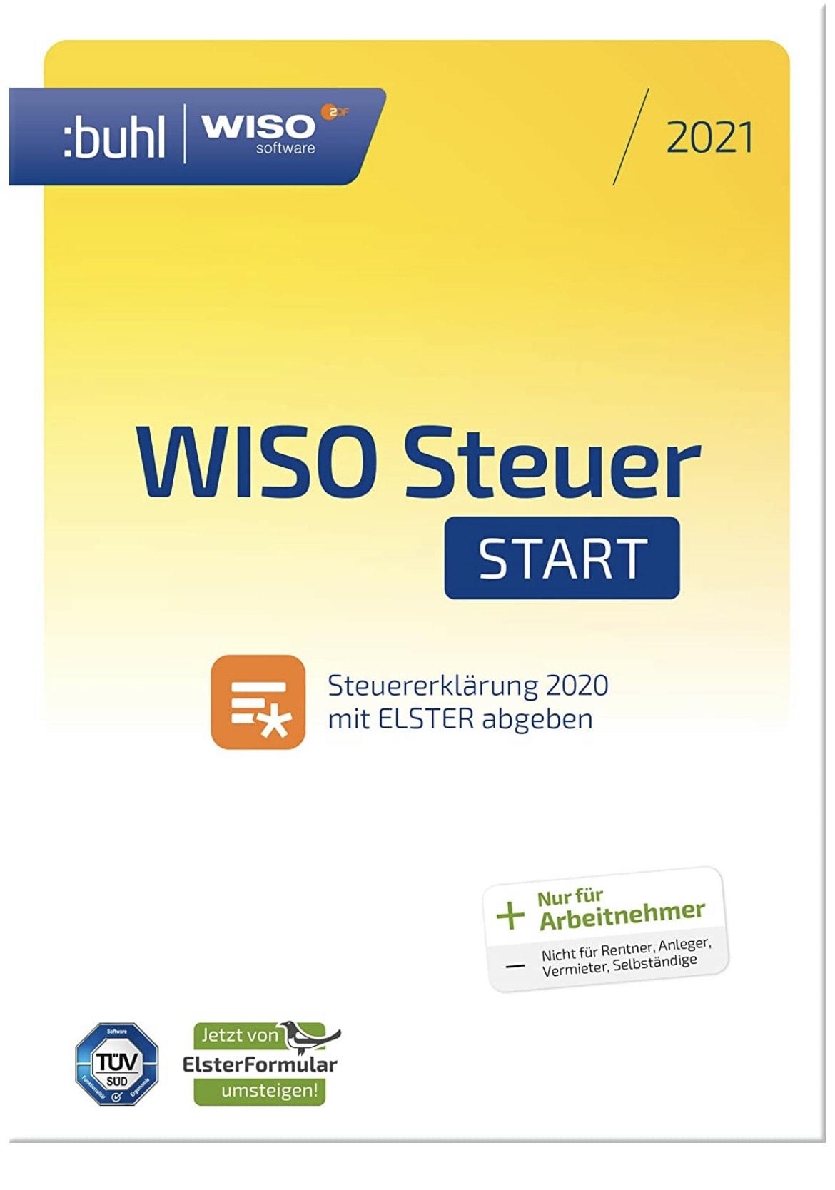 [Amazon] WISO Steuer Start 2021 für Steuerjahr 2020 (Arbeitnehmer) - Aktivierungscode via Email