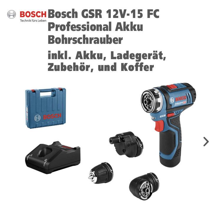 Bosch Gsr 12V15 FC/Koffer/1x2ah Akku/Ladegerät