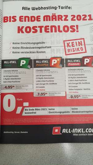 2 Monate lang kostenlose Domains bei all-inkl
