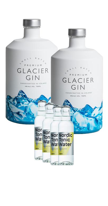 Isländischer Gin im Gin & Tonic Paket mit 4x Gratis finnisches Tonic Water + Gutschein!
