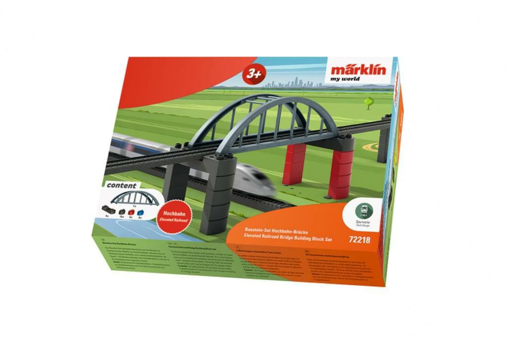"[Amazon Prime] Märklin my world 72218 - Baustein-Set ""Hochbahn-Brücke"", Spur H0, 39 Teile, Tunnel für 9,99€"