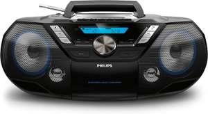 Philips AZB798T/12 CD-Soundmaschine, CD Player Tragbar (Radio DAB+/UKW, Bluetooth, CD, MP3-CD, USB, Kassette, All-in-One-Soundsystem)