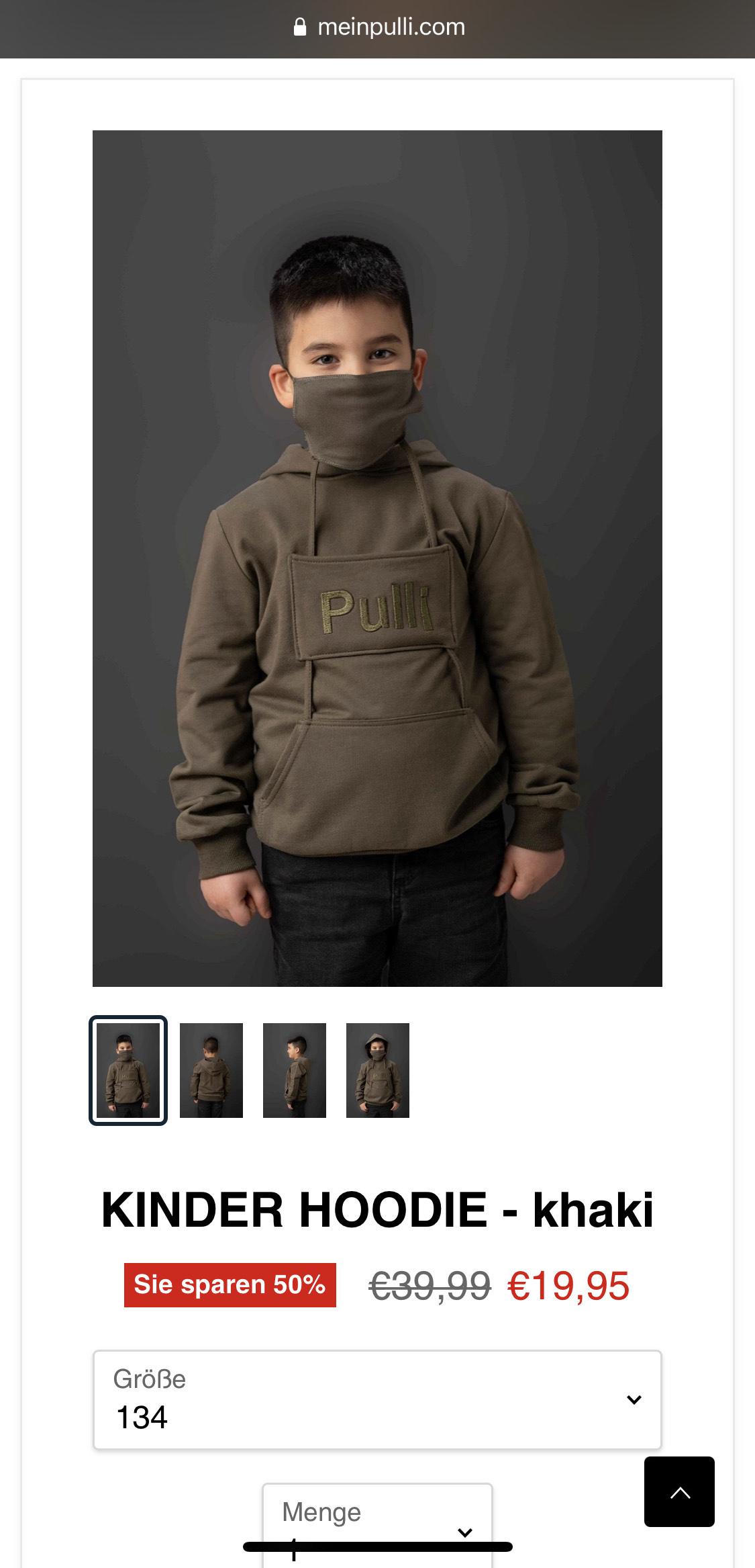 50% Sale auf meinpulli.com + 2 FFP2 Masken je Pulli