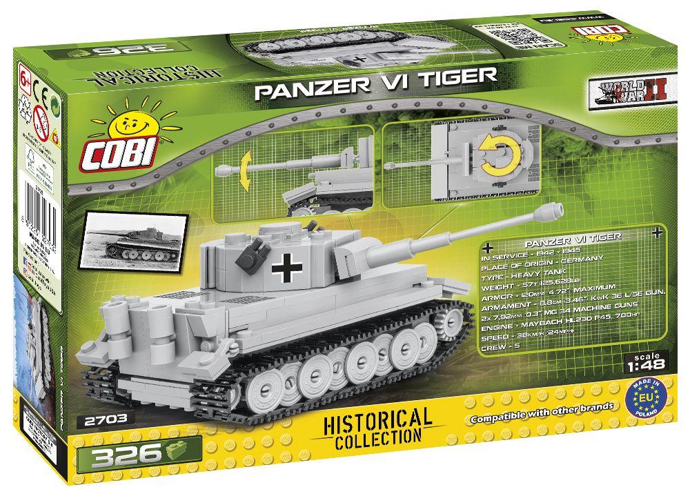 COBI 2703 - Historical Collection, Panzer VI Tiger, Bausatz mit Gäste Konto