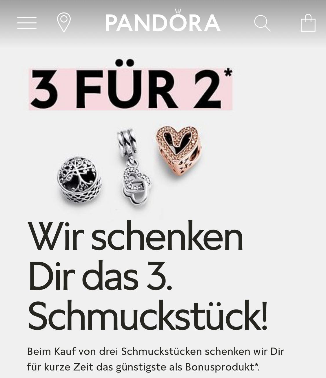 Pandora / Kaufe 3 zahle 2 - günstigstes Produkt geschenkt