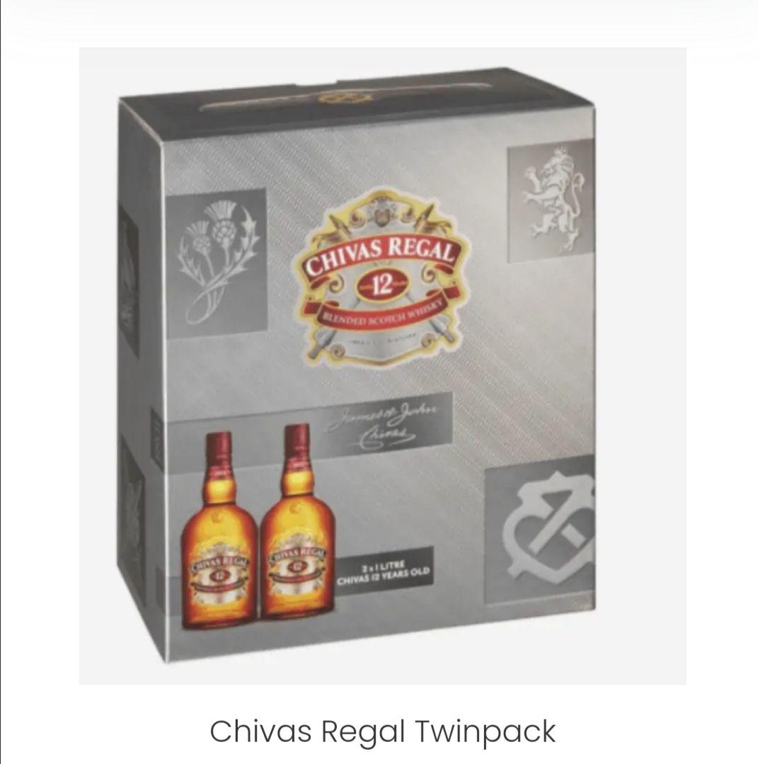 Chivas regal blended scotch 2x 1 Liter Frankfurt Airport