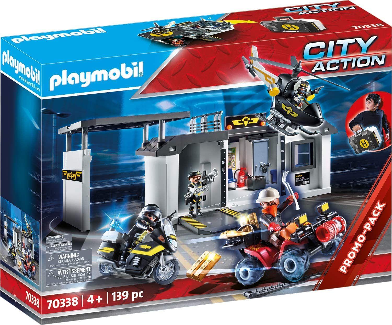 Playmobil City Action 70338 - Große Mitnehm-SEK-Zentrale, Mit Lichteffekt, ab 4 Jahren (139 Teile)