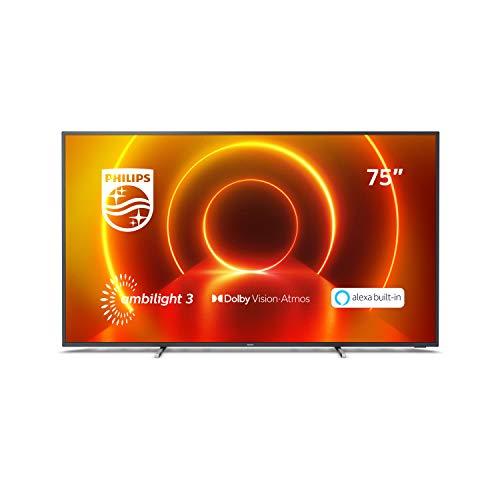 Philips 75PUS7805/12 75-Zoll Fernseher Ambilight 4K UHD LED TV, HDR10+, Dolby Vision, Dolby Atmos, Saphi Smart TV.Modelljahr 2020
