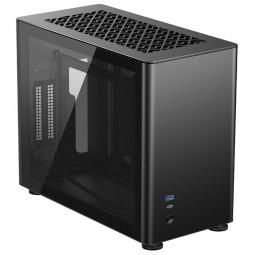 Jonsbo A4 Mini-ITX Gehäuse (Tempered Glass, schwarz, Sandwich Layout)
