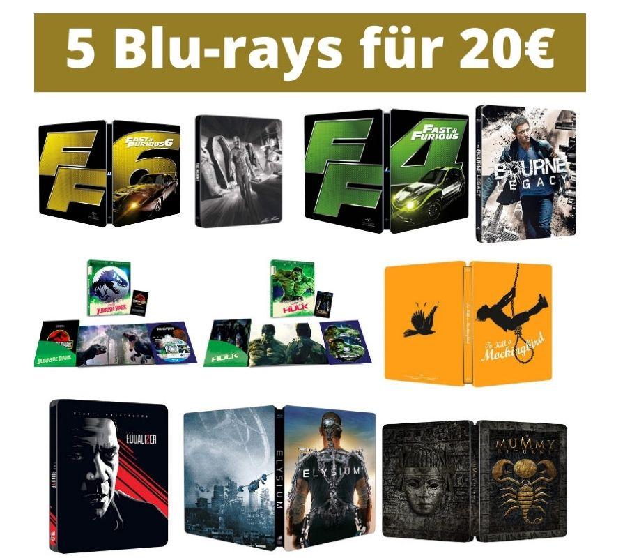 5 Blu-rays oder DVDs für 20 € - Auswahl aus über 130 Titeln (Amazon Italien)