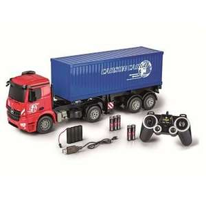 [Media Markt Abholung] CARSON 1:20 Mercedes Benz Arocs m.Container 2.4G 100% RTR Spielzeugmodell, Rot/Blau, Mega Duster 74,99€