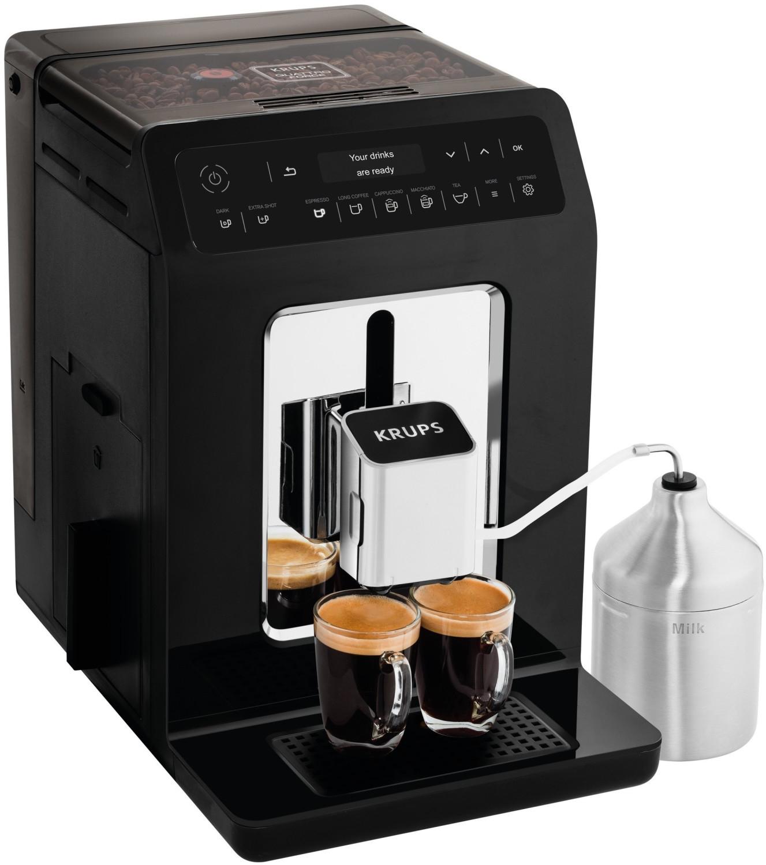 Krups Evidence EA 8918 Kaffeevollautomat (3-stufiges Kegelmahlwerk, 2.3l Wassertank, 260g Bohnenfach, Milchsystem mit Edelstahlbehälter)