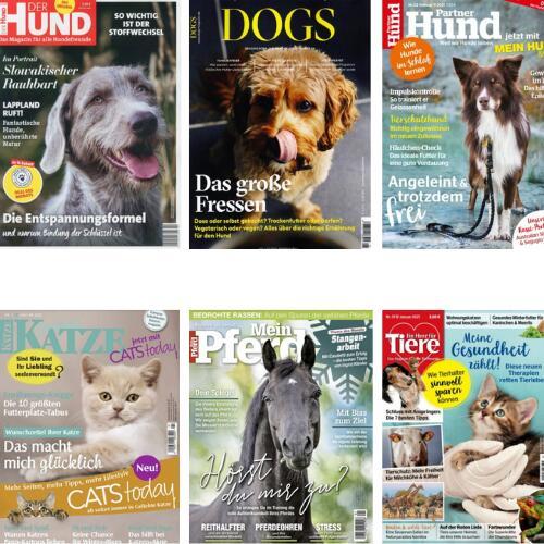 Tiermagazine (Hund, Katze & Pferd) im Abo bis zu 46,67% Rabatt oder Prämie