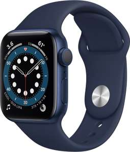 [eBay+] Apple Watch Series 6 40mm Aluminium blau (394x324, OLED, GPS, SpO2, 32GB, Apple Pay, 5ATM wasserdicht)