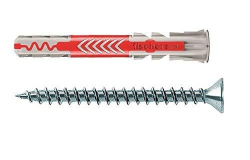 Fischer DuoPower 12x60 S, 10 Stück 538248 inklusive Schrauben (Prime)