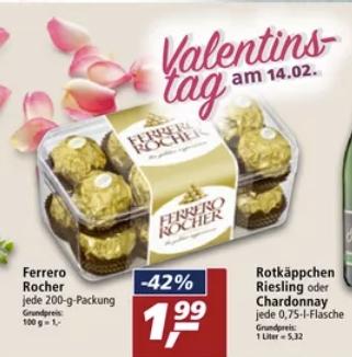 [Real ab 08.02] Ferrero Rocher in der 200g Packung (16 Stück) für 1,99€