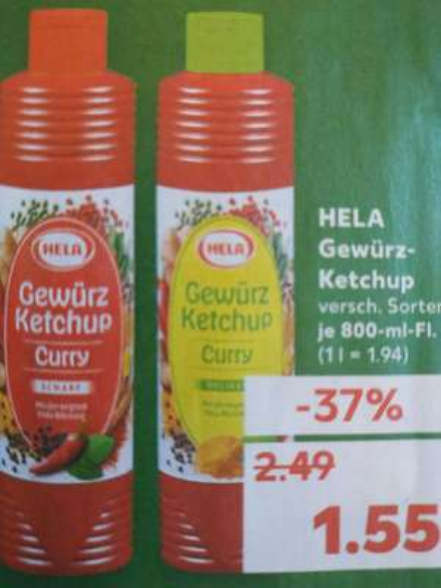 [Kaufland] HELA Curry Gewürz-Ketchup