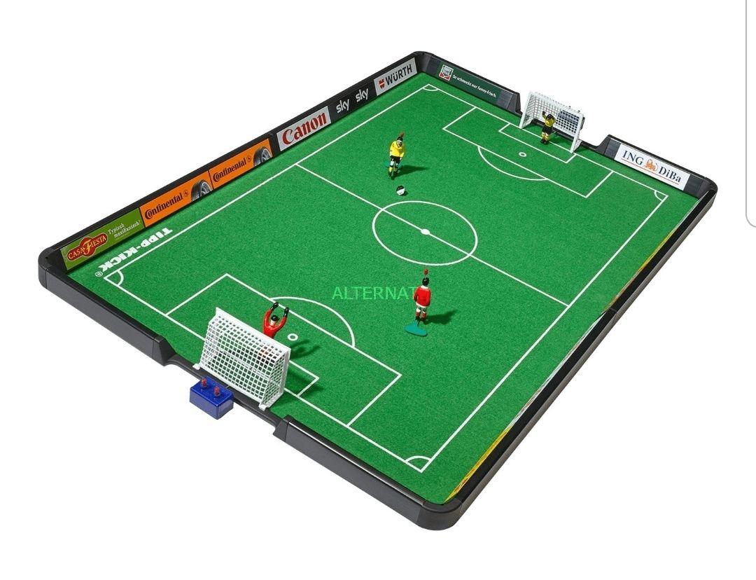 Tipp-Kick Junior Cup | insg. 4 Figuren | davon 2 handbemalte Kicker | 80x57 cm Spielfeld | inkl. Banden |