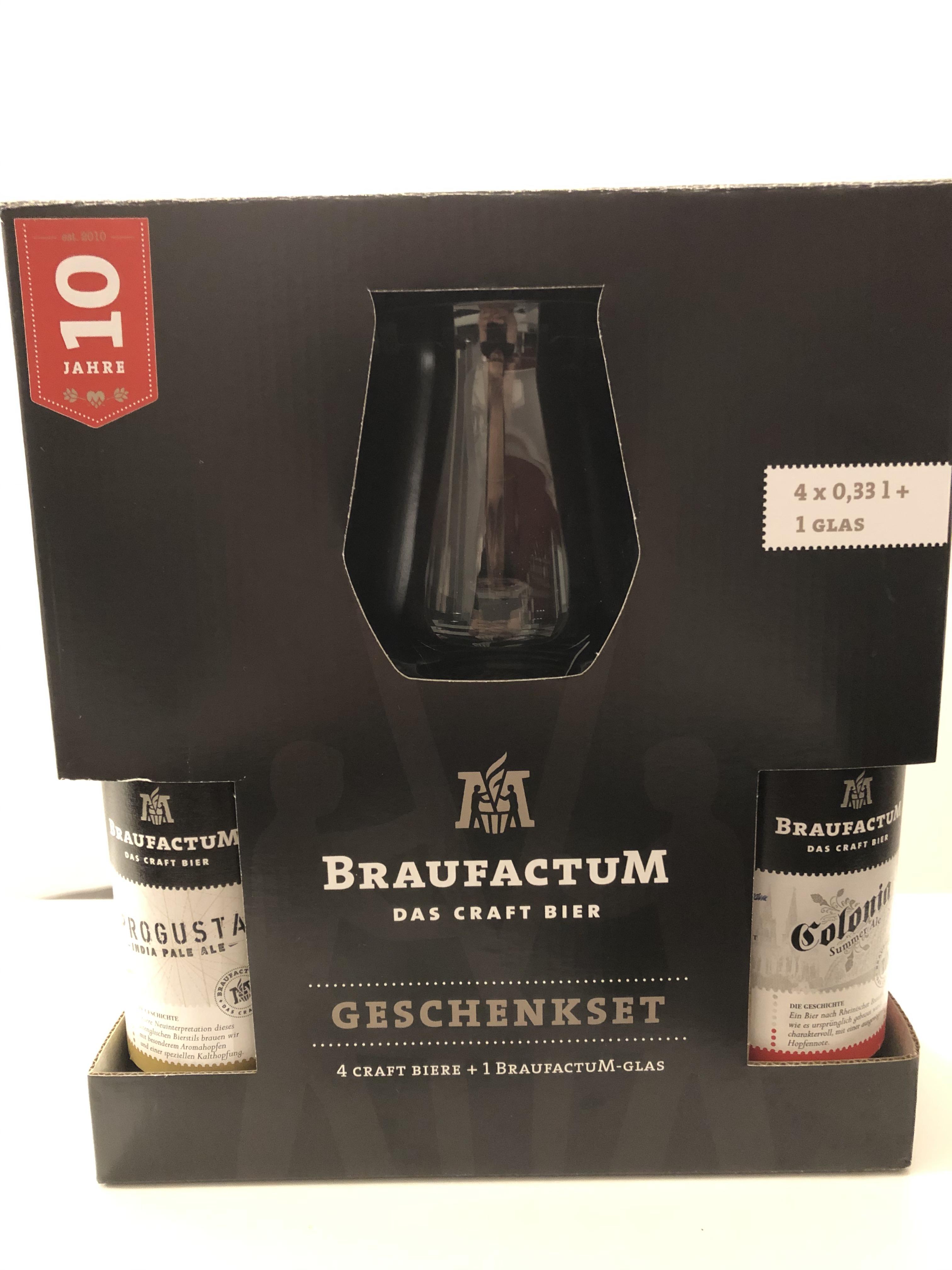 lokal München - HIT - 4x BraufactuM Craft-Bier (0,33l) + Glas