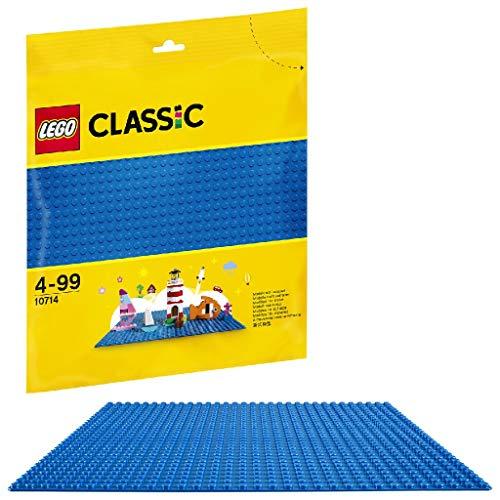 (Prime) LEGO 10714 Classic Blaue Bauplatte, 25 cm x 25 cm/ Modulgröße: 32 x 32, Spielzeug