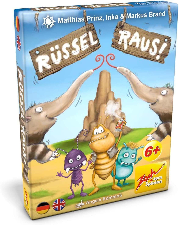 Zoch 601105133 - Rüssel raus - Ein kribbeliges Kinderspiel mit einer Extraportion Schärfe - mit 110 Spielkarte [Prime & Mediamarkt Abholung]