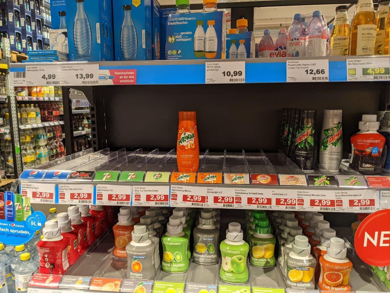 SodaStream Sirup alle Sorten (Edeka Center Braunschweig, ggf. lokal)
