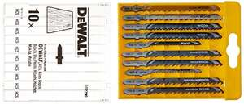 DeWalt HCS-Stichsägeblatt-Set DT2290 (10-tlg., Holz, T-Schaft) [Prime]
