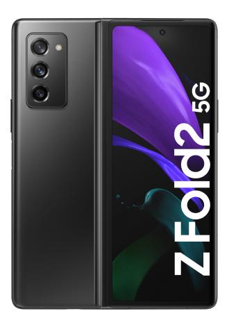 [Junge Leute + MagentaEins] Samsung Galaxy Z Fold 2 Schwarz im Telekom Mobil M (30 GB LTE/5G, StreamOn) für 436,94 Einmalzahl. & mtl. 39,95