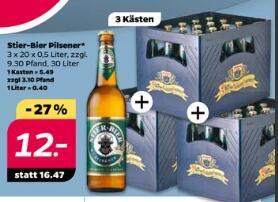 [Netto mit Hund ab 8.2.2021] 3 Kästen Stier Bier Pilsner für 12€ zzgl. Pfand