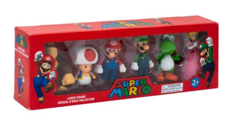 Super Mario Figuren 6er Pack, Nintendo, Figurengröße 10-15cm!