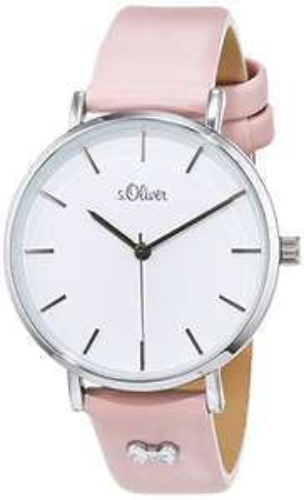 (Amazon Prime) s.Oliver Damen Analog Quarz Uhr mit Leder Armband SO-3748-LQ