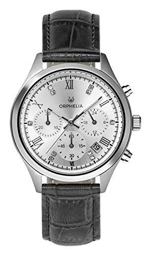 Orphelia Damen Chronograph Quarz Uhr mit Leder Armband OR31802 (Amazon)