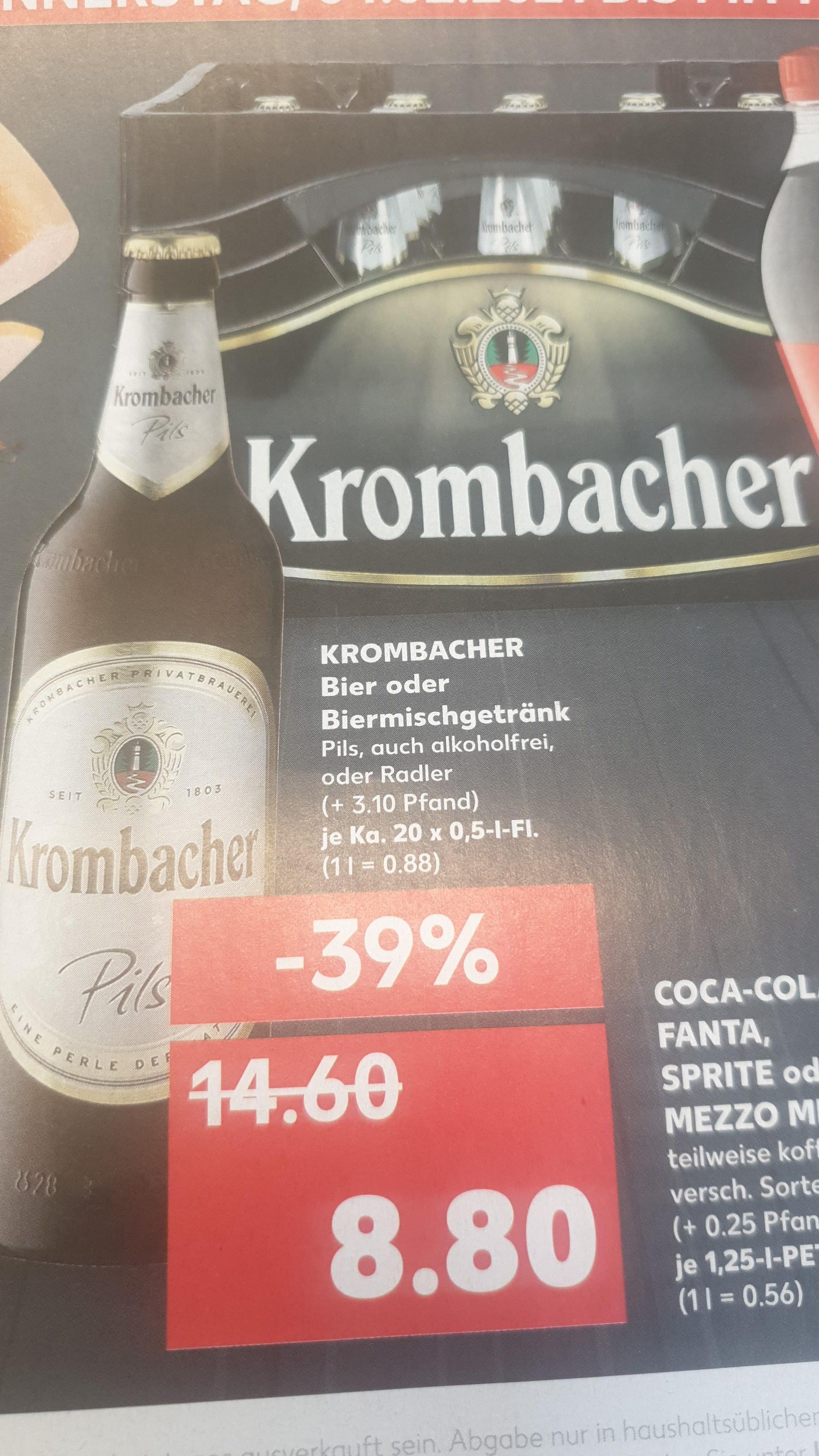Kaufland ( lokal ) Krombacher 20 x 0.5 l