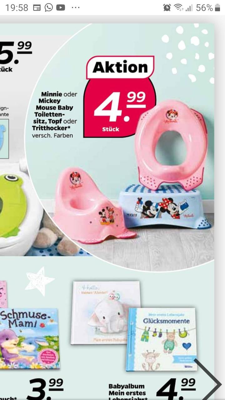 Prospekt Netto mit Hund : Disney Tritthocker / Toilettenaufsatz / Töpfchen mit verschiedenen Motiven