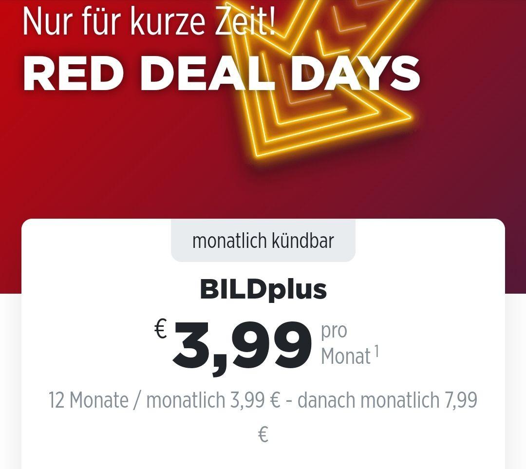 BILDplus - 12 Monate / monatlich 3,99 € - danach 7,99 €