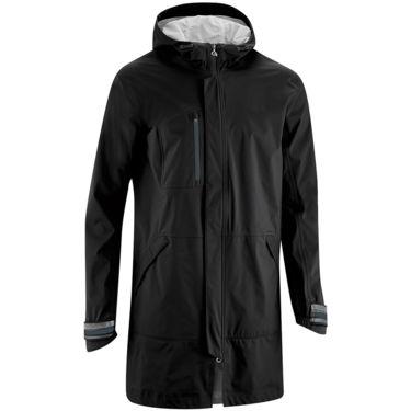 Gonso Job Jacket M Urban Men's black (XXL) - Langer Regenmantel mit radspezifischen Extras für den bewegten Alltag