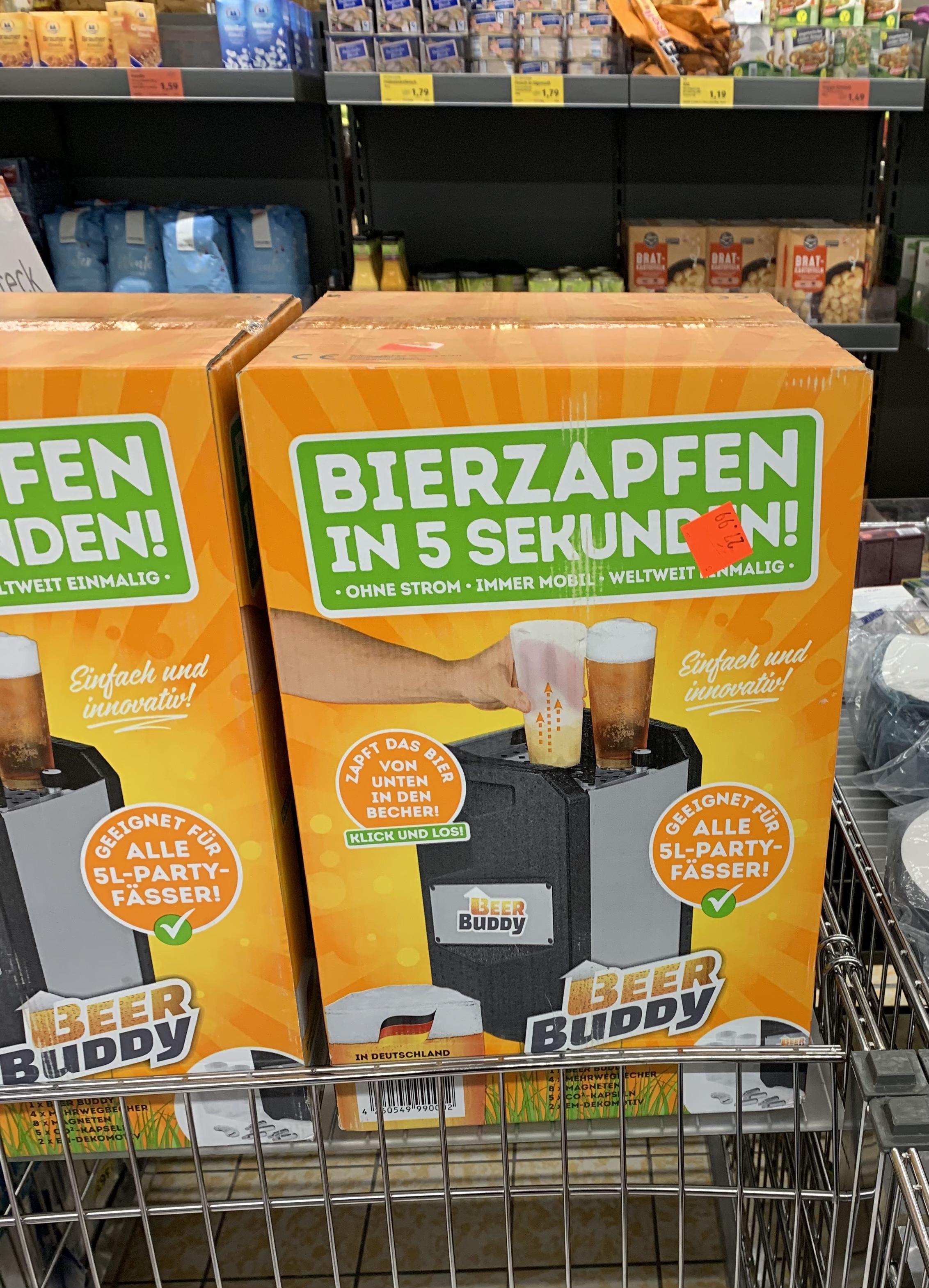 [Lokal FFM, Aldi Berger Str.] Beer Buddy Zapfanlage für 5 Liter Fässer