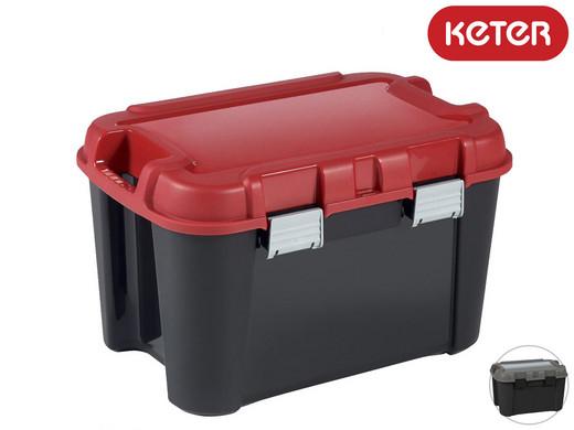 4x Keter Aufbewahrungsbox Totem (60 Liter, 60 x 40 x 37 cm, Stapelbar) [iBOOD]