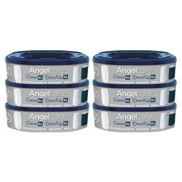 Windeleimer Angelcare Classic XL, DressUp & DressUp XL 6er Pack Nachfüllkassetten