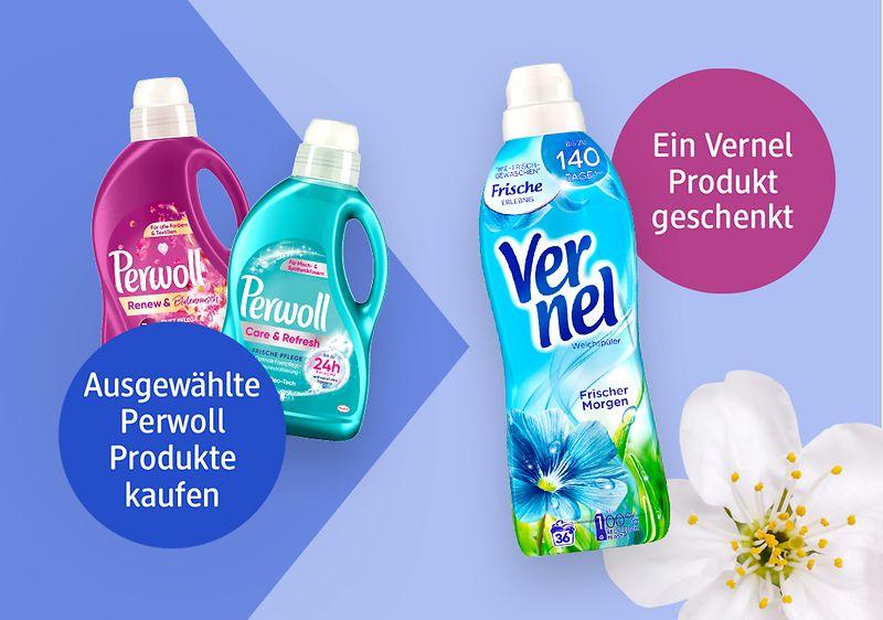 Beim Kauf eines Perwoll Waschmittels, Gratis dazu einen Vernel Weichspüler [DM offline & online]