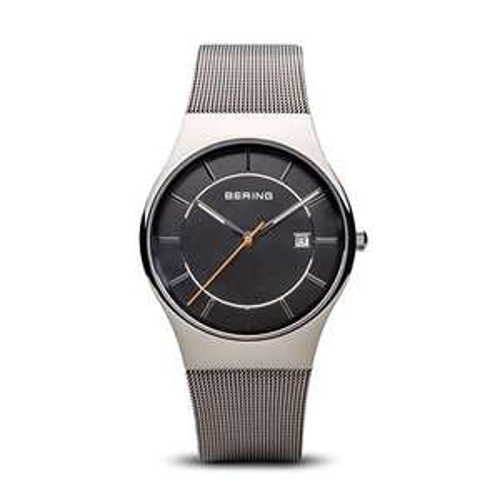 [Amazon Prime] Bering Herren Analog Quarz Uhr mit Edelstahl Armband 11938-007, Saphirglas, 38 mm Gehäusebreite