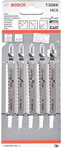 (Prime) Bosch Professional Stichsägeblatt (5 Stück, für Holz, Zubehör für Stichsäge)