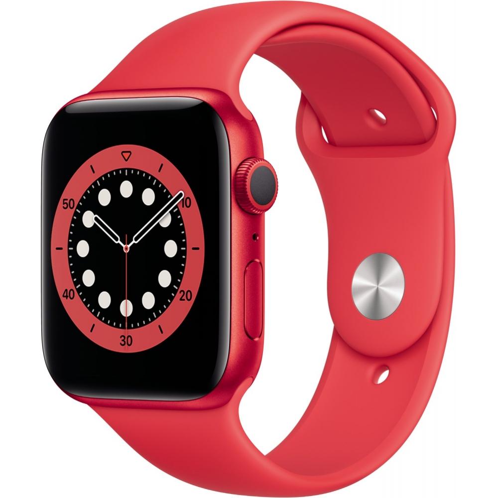 [ebay Plus] Apple Watch Series 6 GPS 44mm mit Sportarmband in PRODUCT RED für 386,91€ inkl. Versandkosten