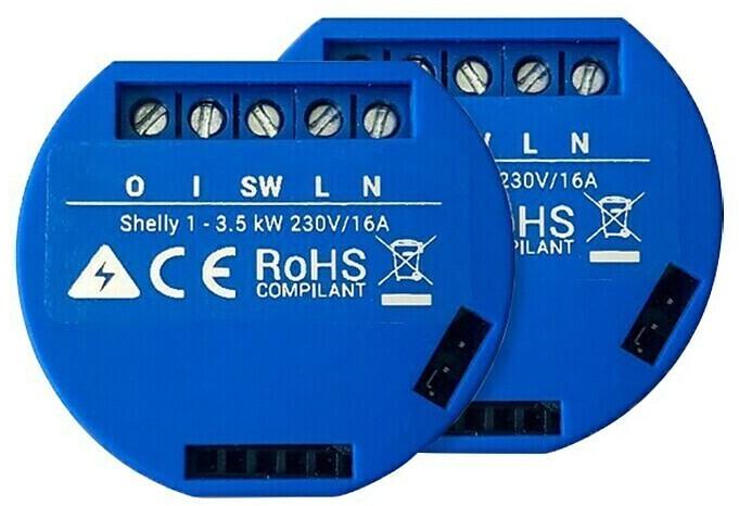 Shelly 1 WiFi Schalter 2er Pack