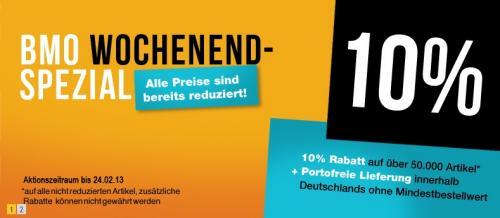 BMO - 10% Rabatt + portofrei innerhalb Deutschlands ohne MBW (Fahrraddeal)