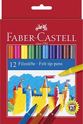 Faber-Castell 12er Pack Filzstifte im Kartonetui [Prime]