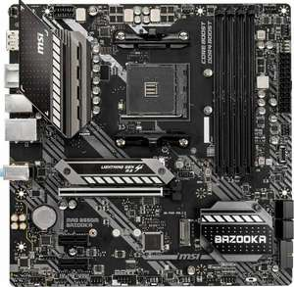 MSI MAG B550M Bazooka Mainboard (M-ATX, AMD AM4, DDR4, M.2, USB 3.2 Gen 1, PCIe x16, Ryzen 5000)