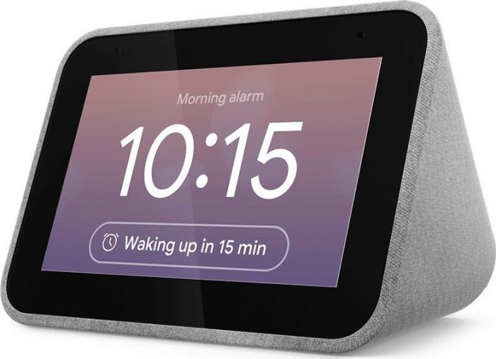 "Lenovo Smart Clock mit Google Assistant (4"", 800x480, IPS, Touch, WLAN, Bluetooth, 3W RMS Lautsprecher, Dual-Mikrofon, USB-Ausgang)"