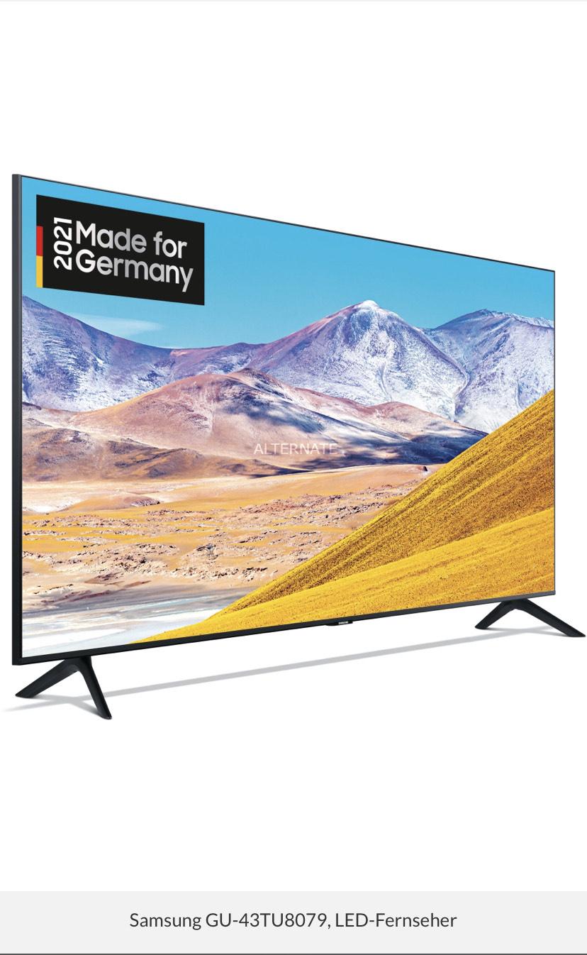 Samsung GU-43TU8079, LED-Fernseher (VA, Edge LED, 50Hz, 4K UHD)