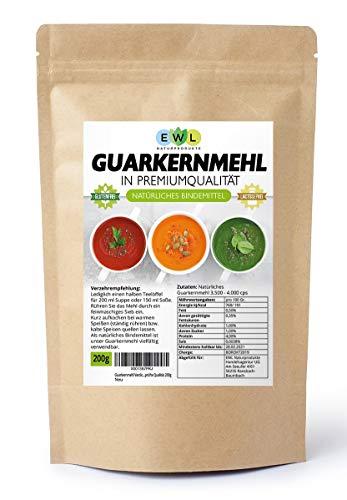 (Amazon Prime/Blitzangebot) Guarkernmehl Verdickungsmittel Bindemittel E 412, in Deutschland kontrolliert und abgefüllt, 200g